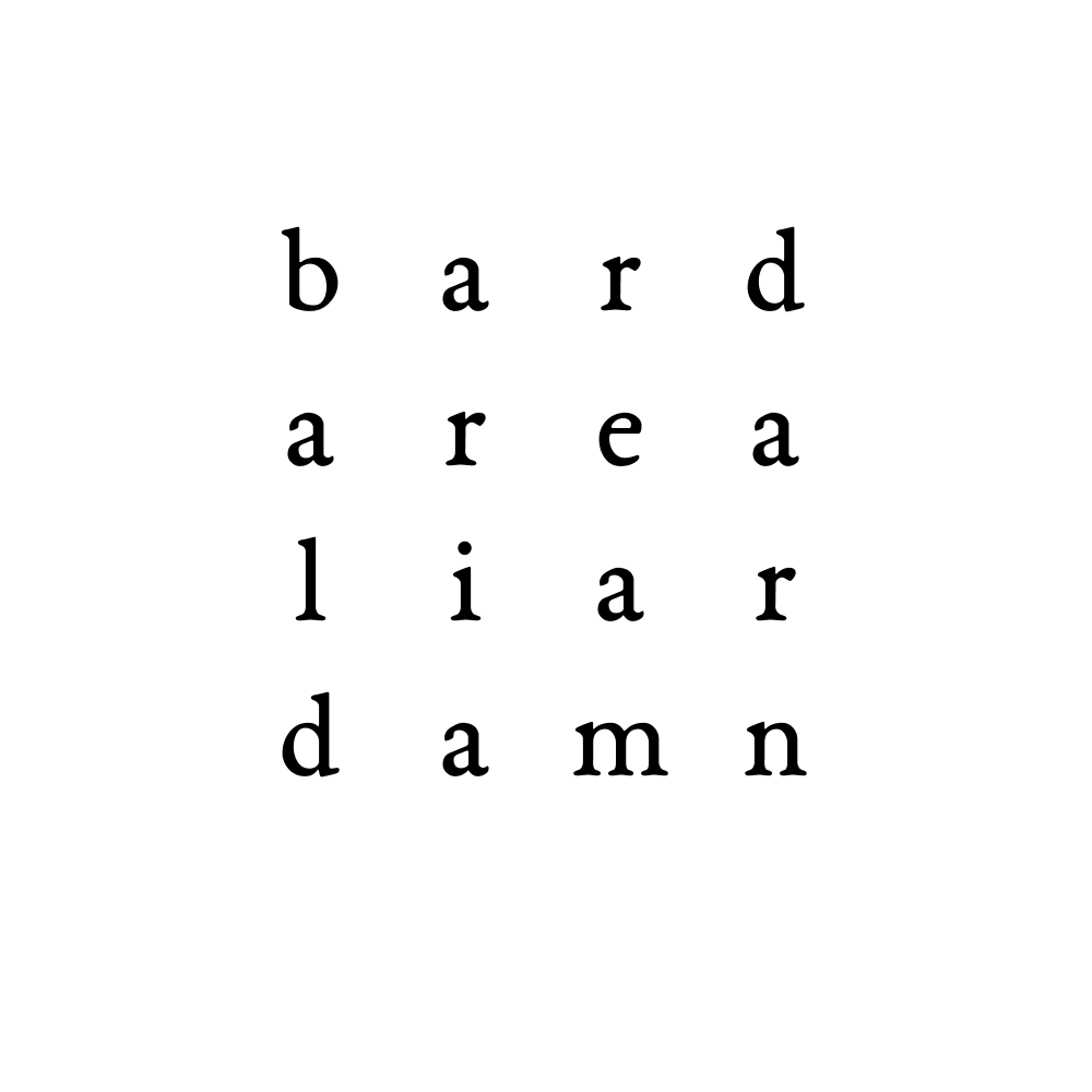 bard area liar damn