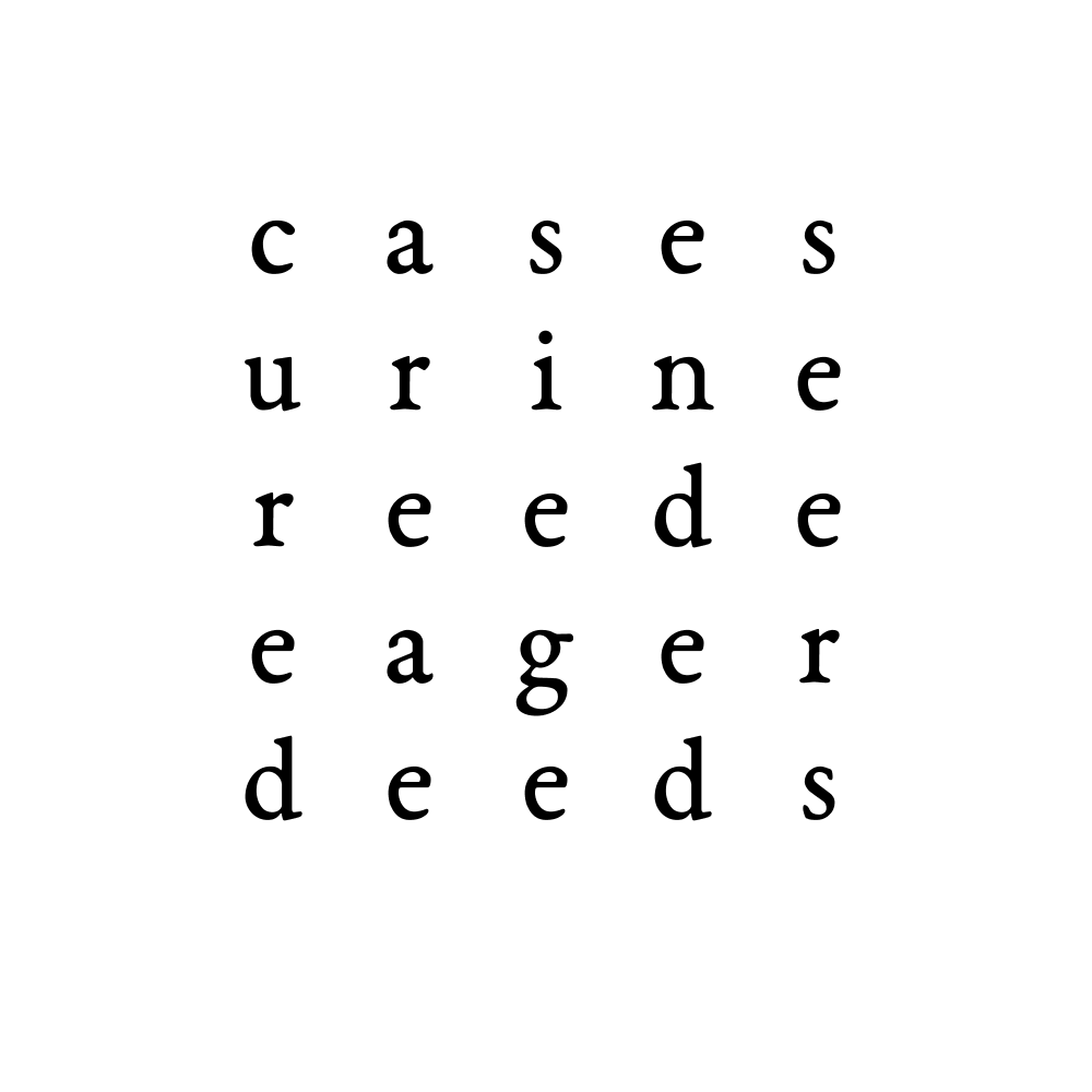 cases urine reede eager deeds