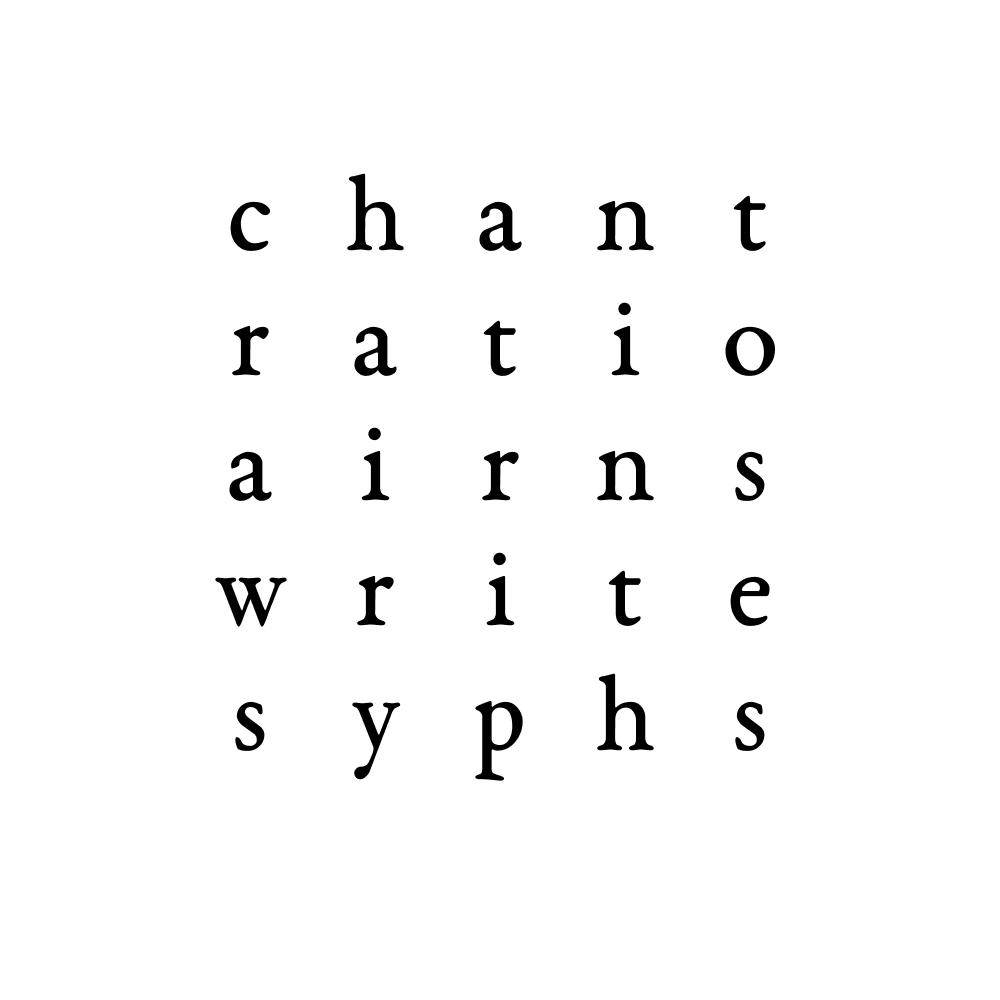 chant ratio airns write syphs