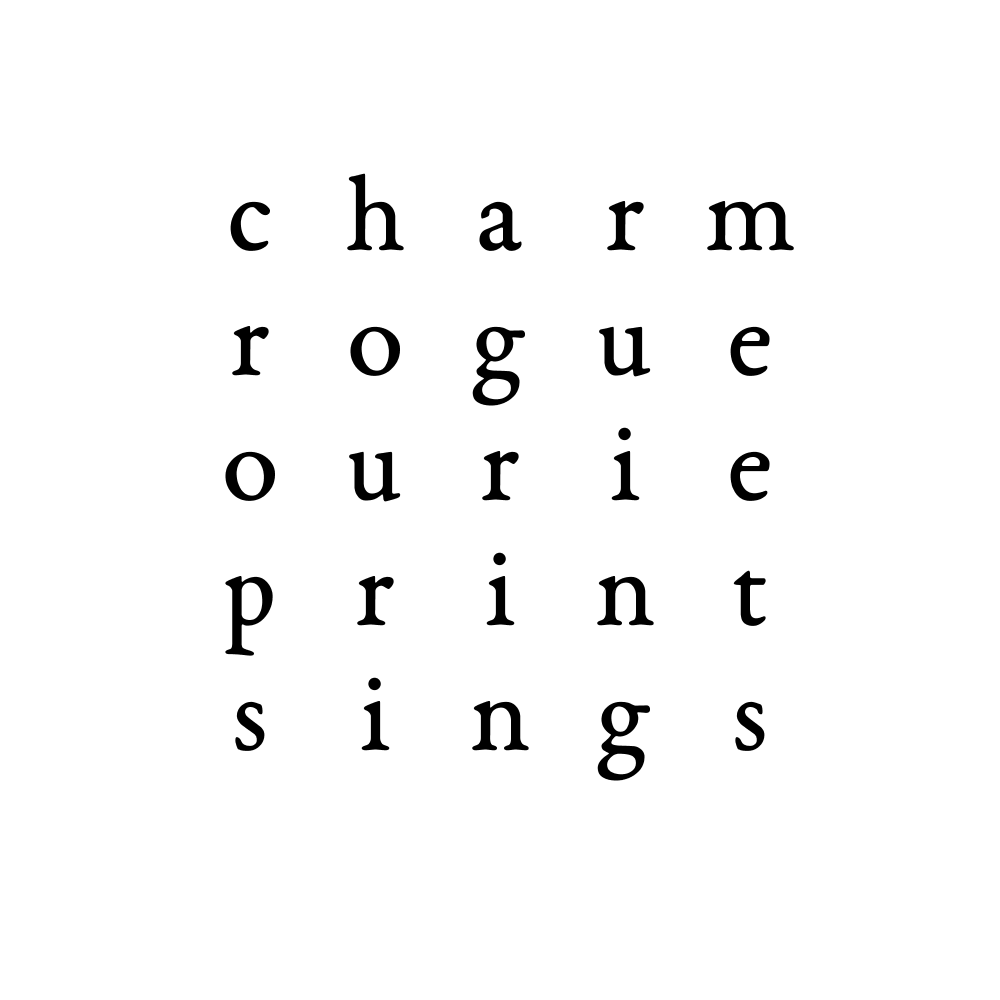 charm rogue ourie print sings