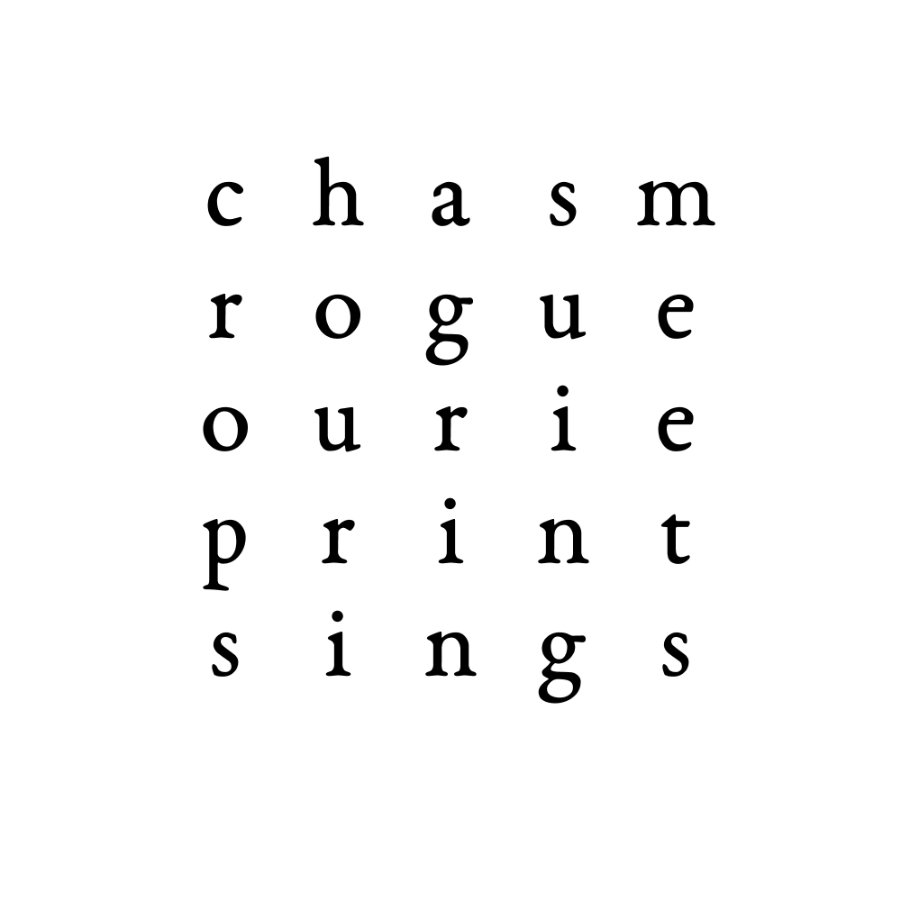 chasm rogue ourie print sings