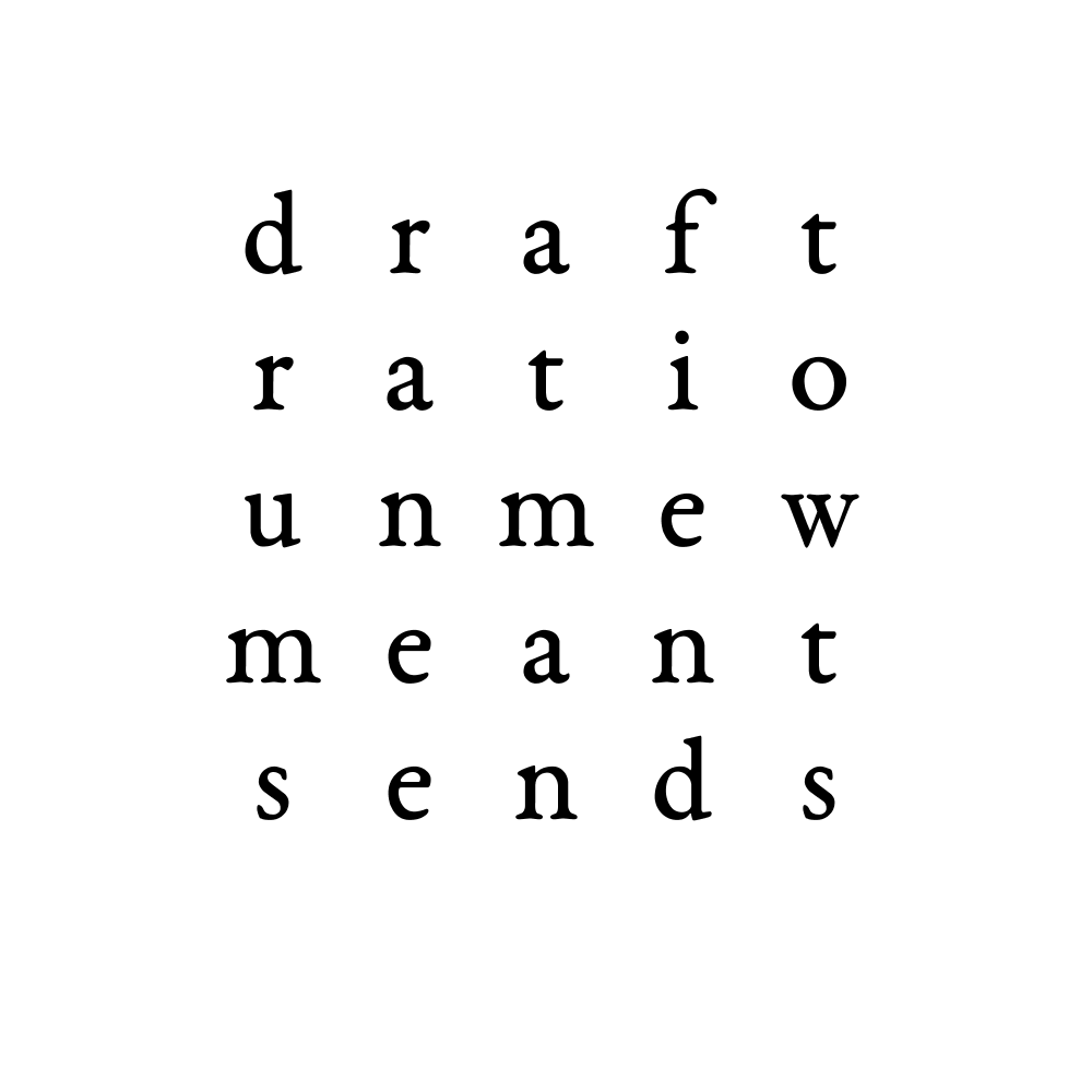 draft ratio unmew meant sends