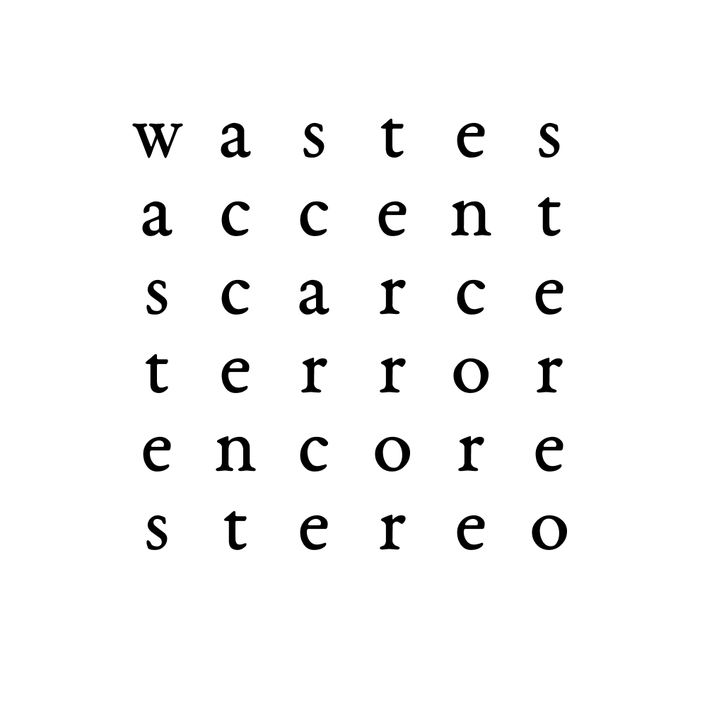 wastes accent scarce terror encore stereo