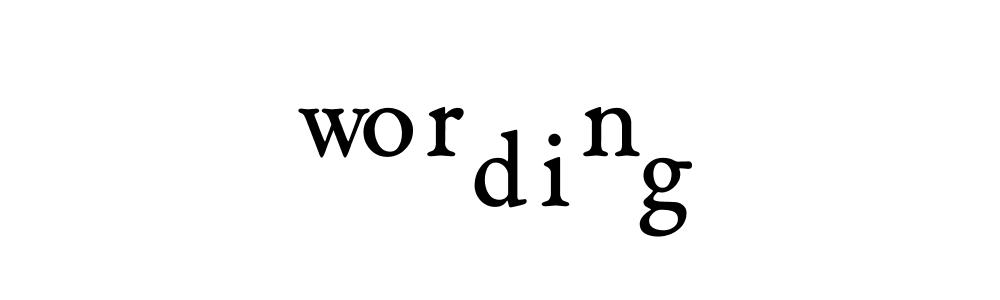 wording worn dig